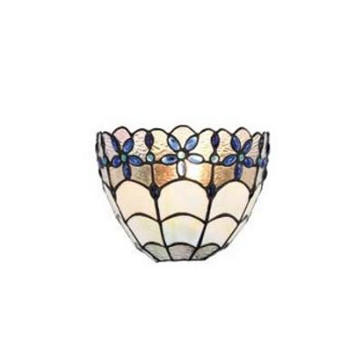 Aplique de pared Tiffany serie Blue con cristales en azul y beige