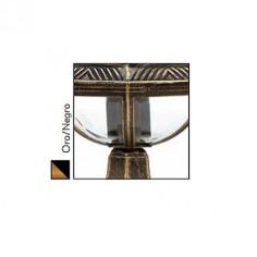 Farola portátil Amapola para exteriores de estilo clásico en oro y negro