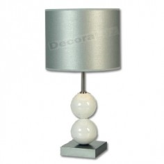 Lámpara sobremesa blanco moderno bolas cerámica