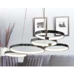 Lámpara de techo LED Inverness con círculos en cromo de estilo actual