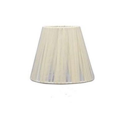 Pantalla para lámpara Begonia en textil blanco con tablas de 40 cm