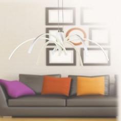 Lámpara colgante LED Perth de estilo moderno con forma de araña en blanco