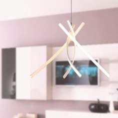 Lámpara colgante LED Kirkwall en color blanco de estilo moderno