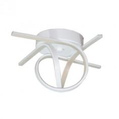 Semiplafón LED Kirkwall color blanco de estilo moderno