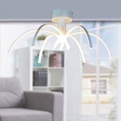 Semiplafón LED Perth en color blanco de estilo moderno
