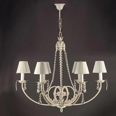 Blanco Lámpara Decorada Agatone Con En Luces Cristales De Cinco Color vnw8ym0NO