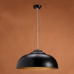 Lámpara colgante Electra en color negro con interior en tono oro