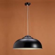Lámpara colgante Electra en negro con interior en plata envejecida