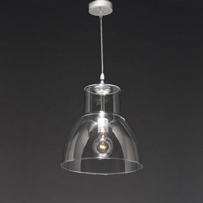 Lámpara colgante Alcina en cristal transparente