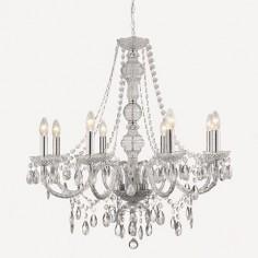 Lámpara María Teresa ocho luces en acrílico cromado