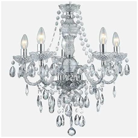 Comprar lmpara chandelier mara teresa en cromo y transparente de lmpara chandelier mara teresa en cristal y cromo de cinco luces aloadofball Choice Image