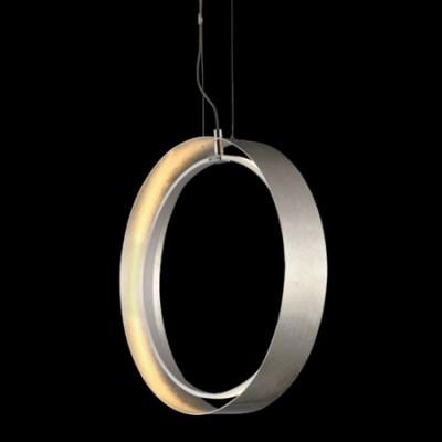Lámpara colgante LED Orbitron circular en pan de plata