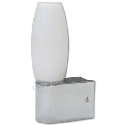 Aplique base cromo con cristal ovalado protección IP44