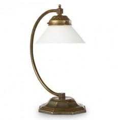 Lámpara mesa Nouveau de estilo retro con acabado envejecido