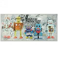 Lienzo decorativo infantil con robots