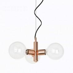 Lámpara de techo vintage Garland acabado en cobre de tres luces