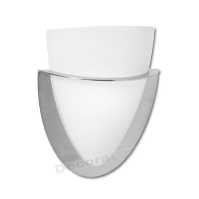 Aplique con forma de pebetero en níquel cristal traslúcido