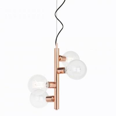 Lámpara de techo Garland de cuatro luces con acabado en cobre