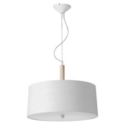 Lámpara colgante Infinito Nordic con pantalla y detalles en madera
