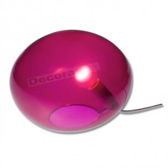 Sobremesa bola en color violeta de cristal