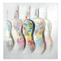 Cuadro decorativo Guitarras multicolor