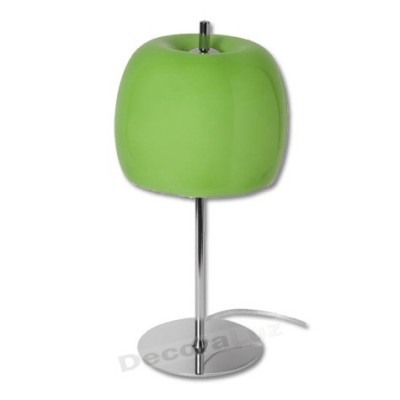 Sobremesa manzana de cristal verde cromo