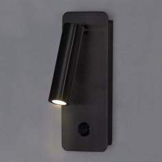 Aplique Aron LED orientable en metal acabado en negro
