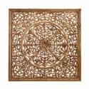 Talla madera tono oro estilo étnico para pared
