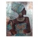 Lienzo Africana de estilo étnico color azul y marrón