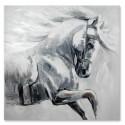 Pintura Caballo en tonos grises y blancos tamaño grande