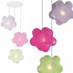 Lámpara infantil Flores colores en Artecoon con tres luces
