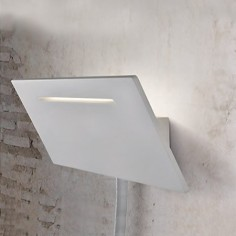Aplique de pared Ariel LED rectangular en color blanco con lector