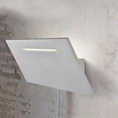 Aplique de pared Ariel LED rectangular en color blanco con lector