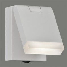 Aplique pared LED Cora orientable en blanco texturado