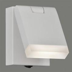 Aplique pared LED Cora orientable en blanco texturado