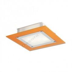 Plafón cuadrado de metal naranja cristal moderno