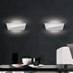 Aplique de pared moderno Lola LED blanco