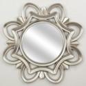 Espejo decoración de pared en plata con forma redonda