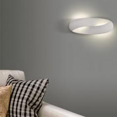 Aplique de pared Norma LED en blanco