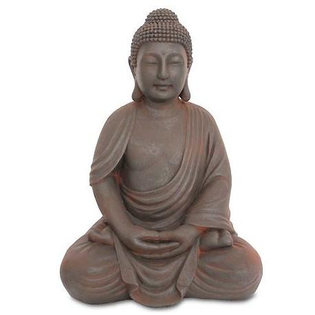 Comprar figura decoraci n oriental buda en gris efecto xido - Figuras buda decoracion ...