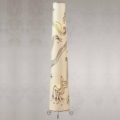 Lámpara de pie Ringus de estilo rústisco pintado a mano
