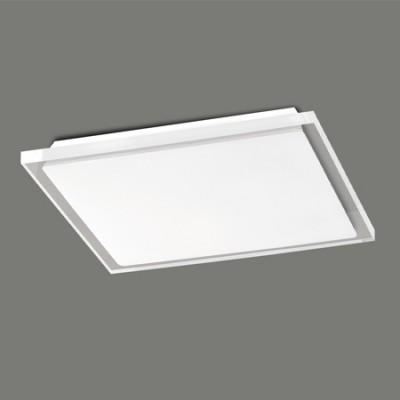 Plafón LED Pole cuadrado transparente y opal