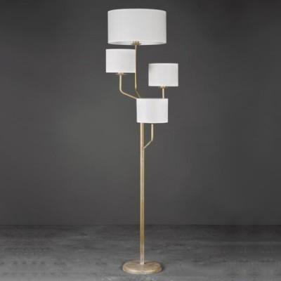 Lámpara de pie Celandia en oro francés con cuatro brazos