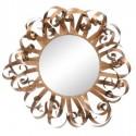 Espejo decorativo Rizos metálico en oro con forma redonda