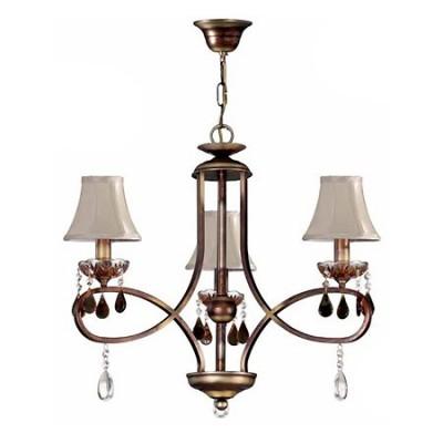 Lámpara de techo Princesa con tres luces en bronce antiguo