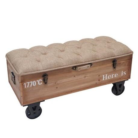 Comprar banqueta ba l lost estilo industrial en madera for Donde comprar ruedas estilo industrial