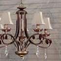 Lámpara de techo Princesa en bronce antiguo con cinco luces