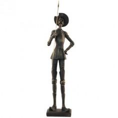 Figura decorativa Don Quijote en bronce envejecido