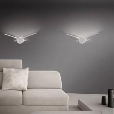 Aplique de pared LED Clock en color blanco