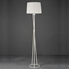 Lámpara de pie Evander en color blanco con tres patas